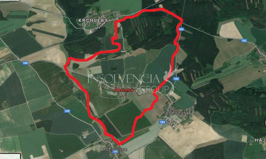 Prodej pozemku o výměře 3075 m², Čermná, Domažlice (PRODÁNO)